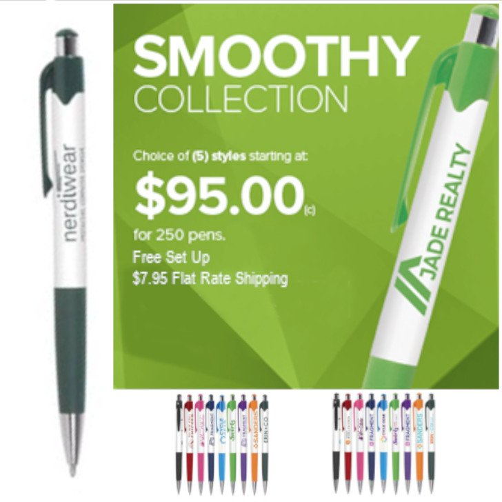 Smoothy Classic - ColorJet under $95 for 250 pens
